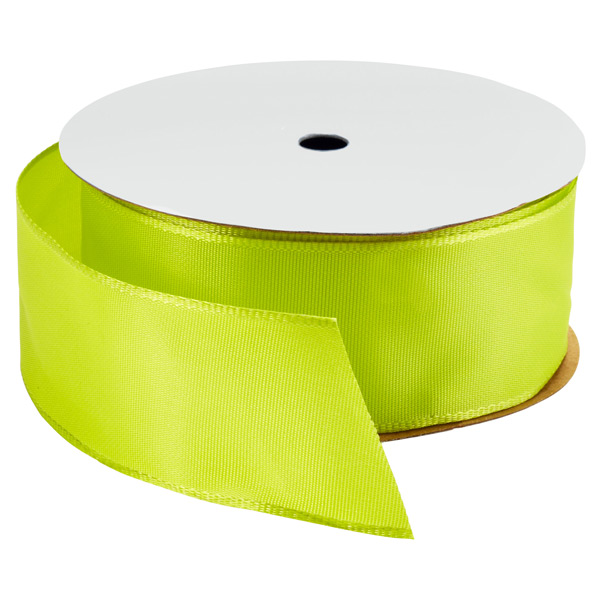 Bright Chartreuse Wired Ribbon