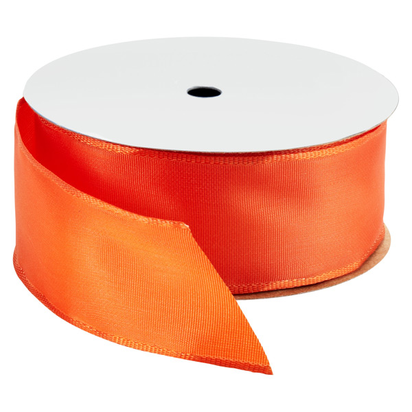 Wired Ribbon - Bright Orange Wired Ribbon | The Container Store