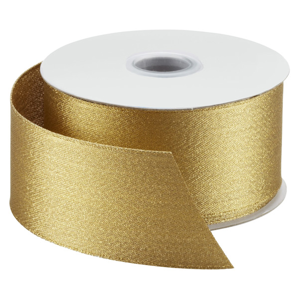 Ribbon Wired Satin Gold