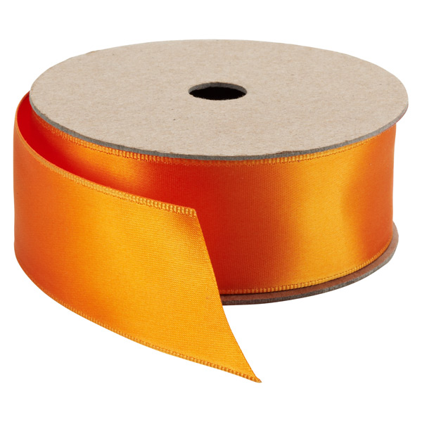Double Face Satin Wired Ribbon Orange