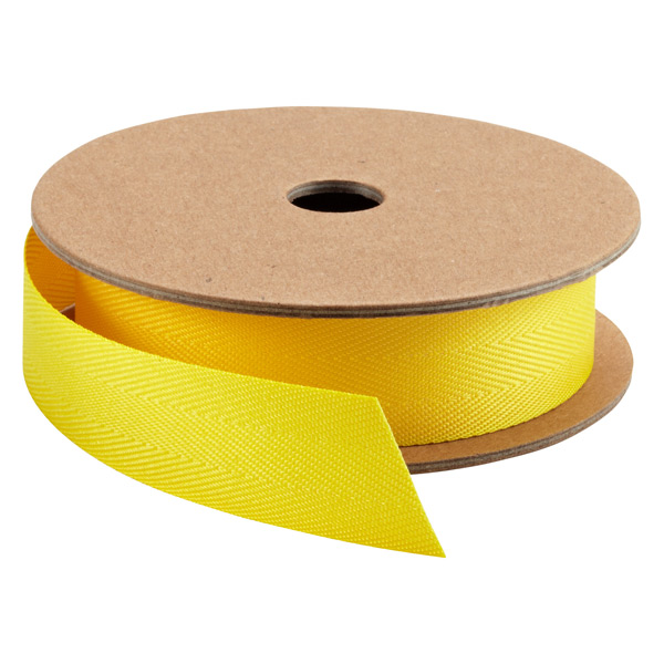Herringbone Ribbon Lemon