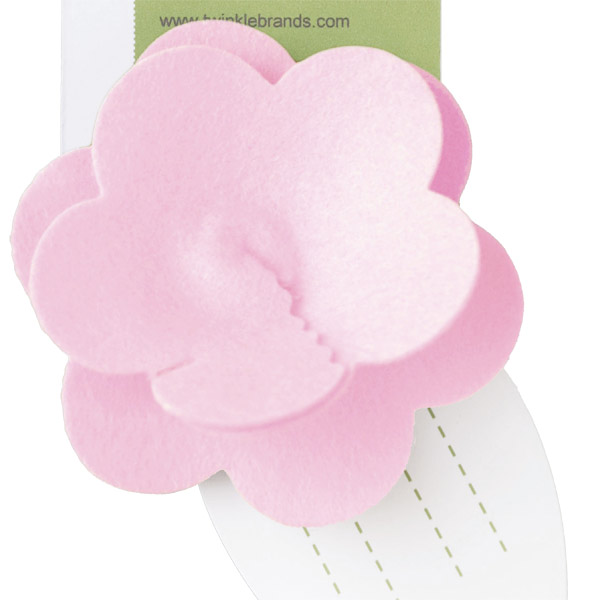 Felt Flower Tie-On Pink
