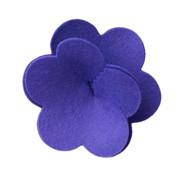 Felt Flower Tie-On Purple