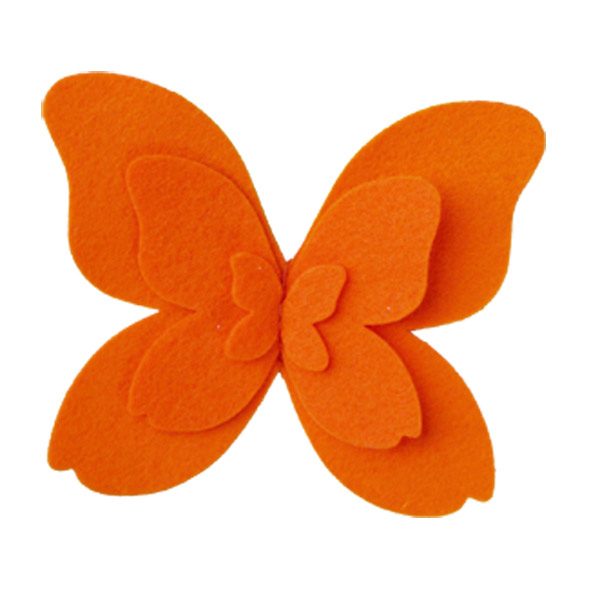 Felt Butterfly Tie-On Orange