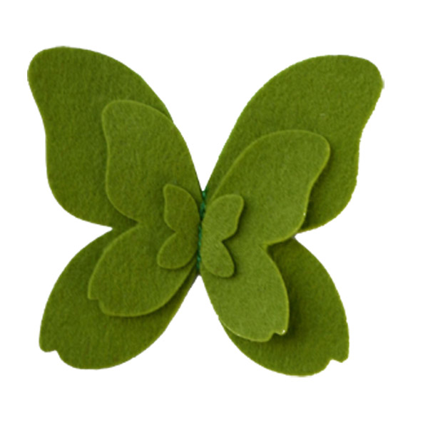 Felt Butterfly Tie-On Green