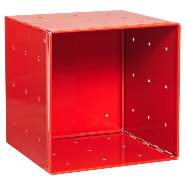 QBO® Steel Cube Enameled Red