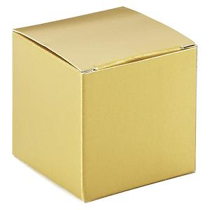 Cube Gift Box Gold