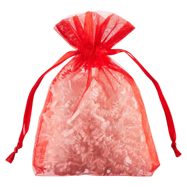 Organza Sacks Red Pkg/6