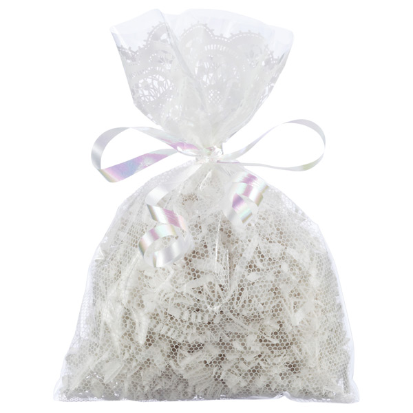 Lace Sacks White Pkg/10