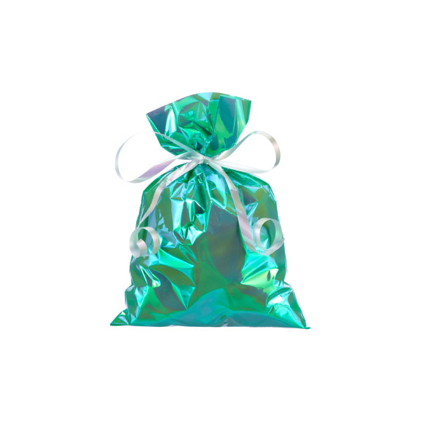Small Iridescent Sacks Green Pkg/10