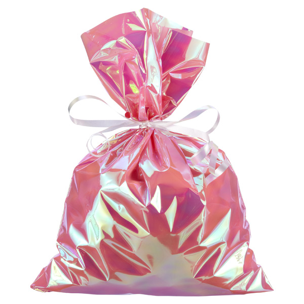 Large Iridescent Sacks Pink Pkg/6