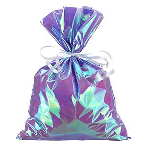 Large Iridescent Sacks Purple Pkg/6