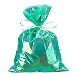 Large Iridescent Sacks Green Pkg/6