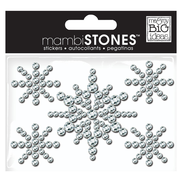 Rhinestone Stickers Snowflakes Clear Pkg/5