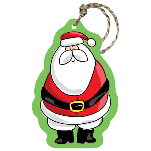 Recycled Gift Tags Santa Party Pkg/5