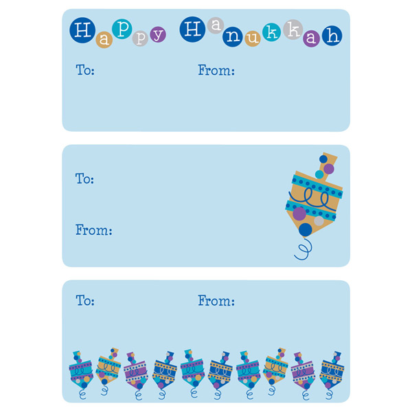 Dancing Dreidel Gift Labels Pkg/36