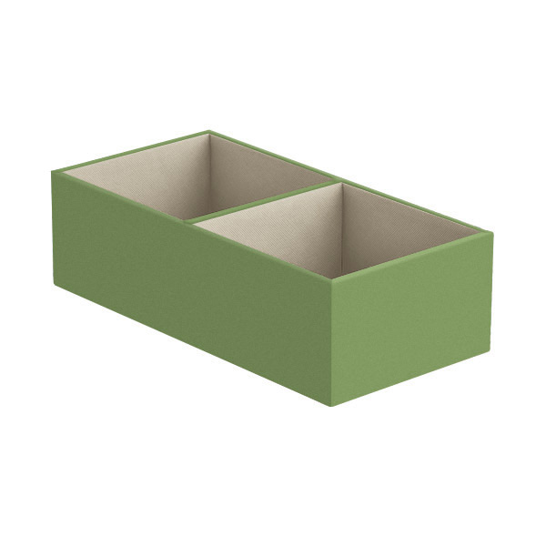 Narrow 2-Section Drawer Organizer Verde