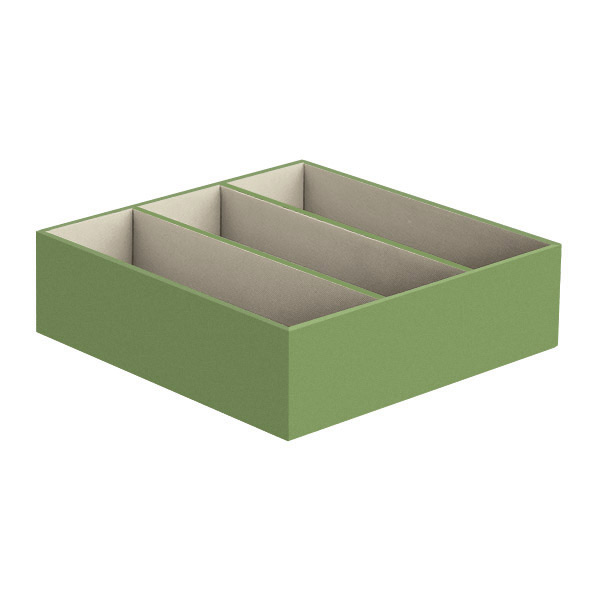 3-Section Drawer Organizer Verde