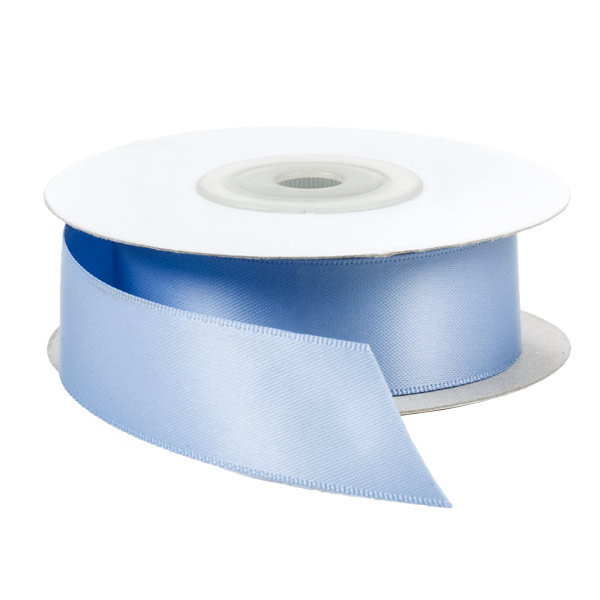 Baby Blue Double-Faced Satin Ribbon