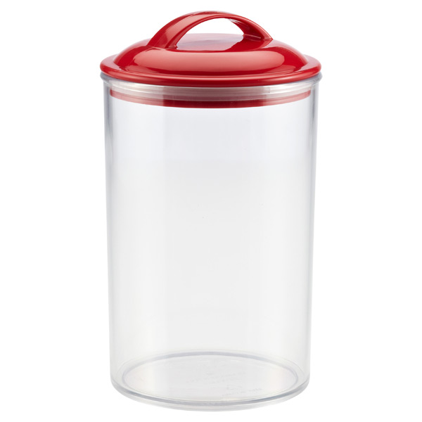 2.4 qt. Color Pop Acrylic Canister Red Lid