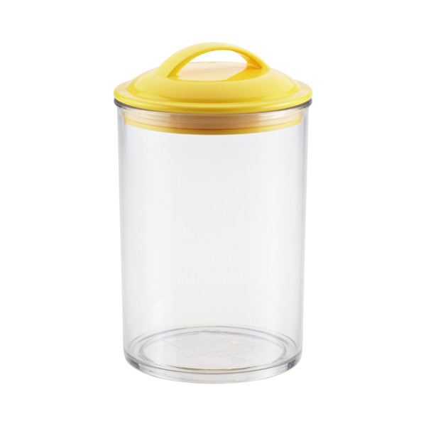1.5 qt. Color Pop Acrylic Canister Yellow Lid