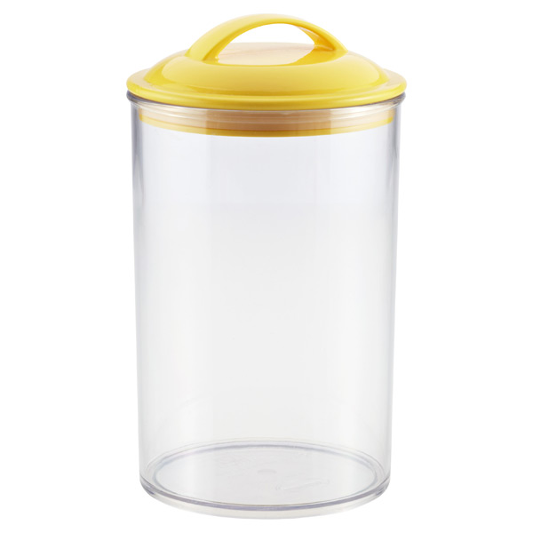 2.4 qt. Color Pop Acrylic Canister Yellow Lid