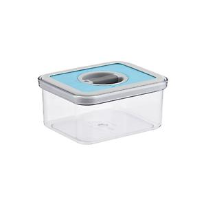 .8 qt. Rectangle Perfect Seal Canister Teal Lid