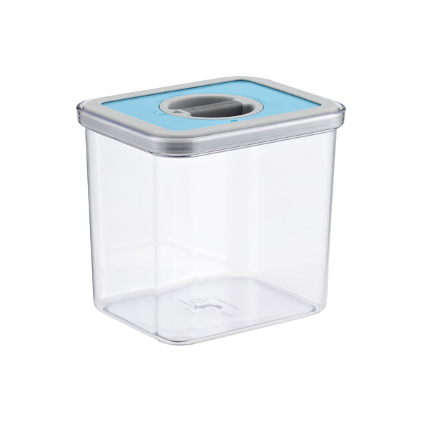 1.9 qt. Rectangle Perfect Seal Canister Teal Lid