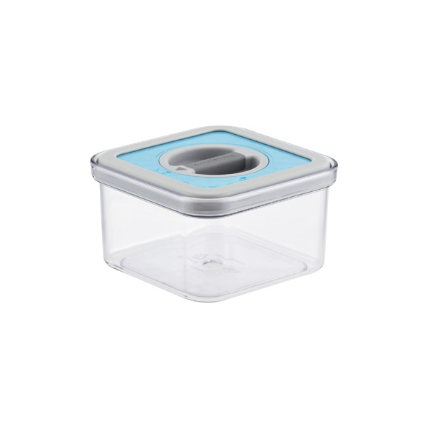 .6 qt. Square Perfect Seal™ Canister Teal Lid