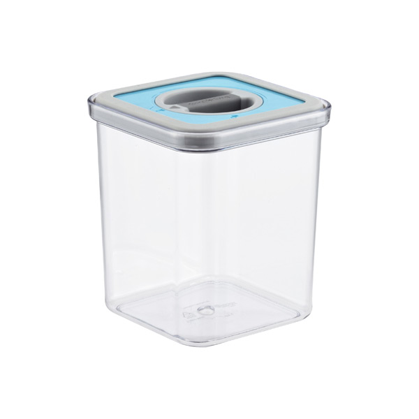 1.4 qt. Square Perfect Seal Canister Teal Lid