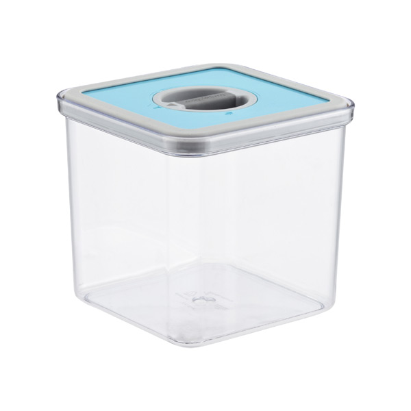 2.4 qt. Square Perfect Seal Canister Teal Lid