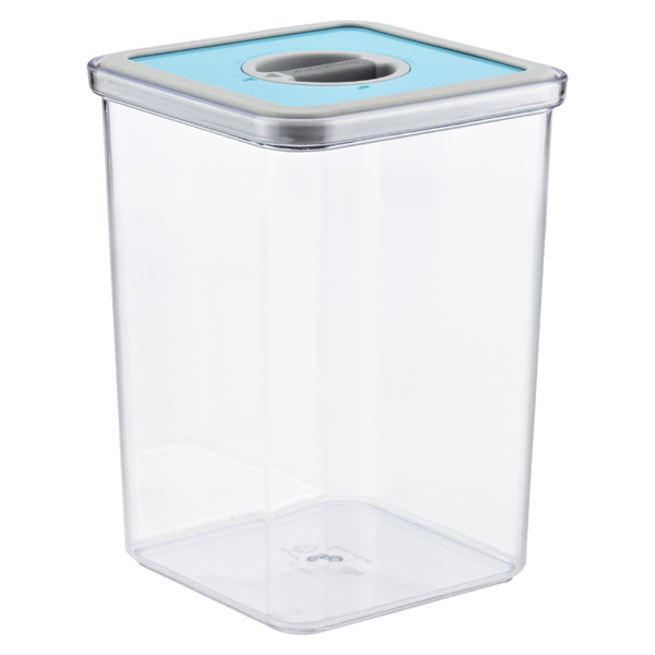 3.7 qt. Square Perfect Seal™ Canister Teal Lid