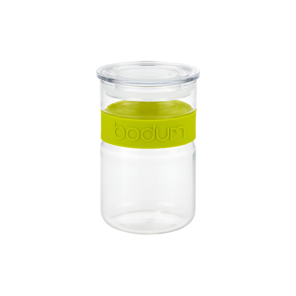 20 oz. Presso Glass Canister Green Band
