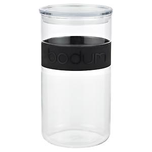 2.1 qt. Presso Glass Canister Black Band
