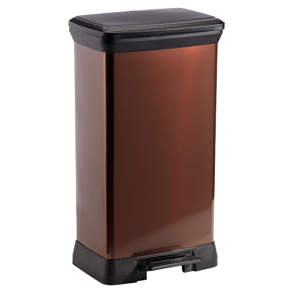 13.2 gal. Deco Step Can Bronze