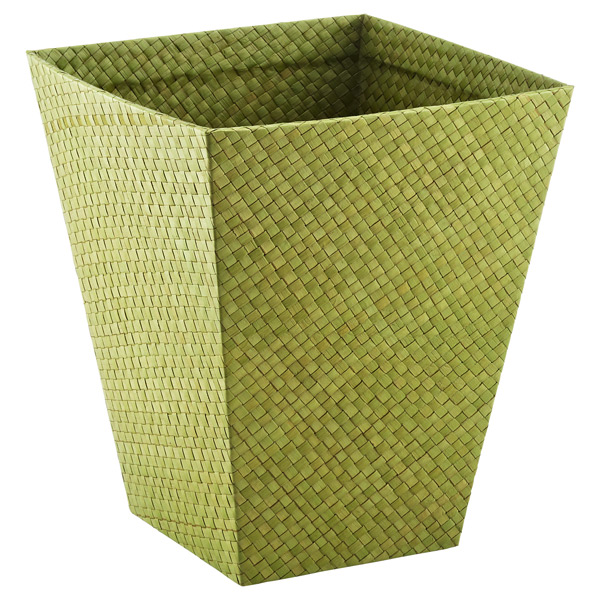 Square Pandan Wastebasket Lime