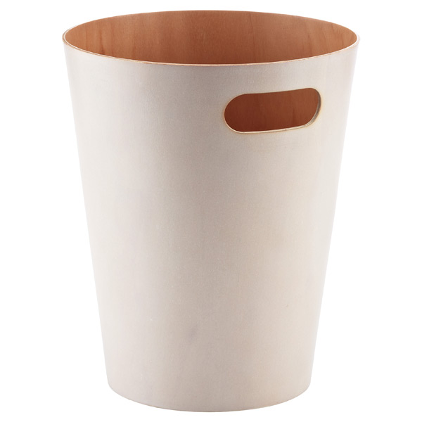Umbra® Woodrow Wastebasket White