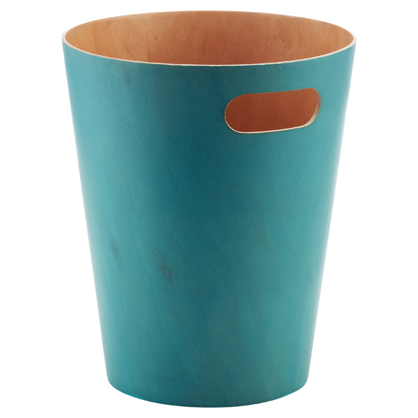 Umbra® Woodrow Wastebasket Blue