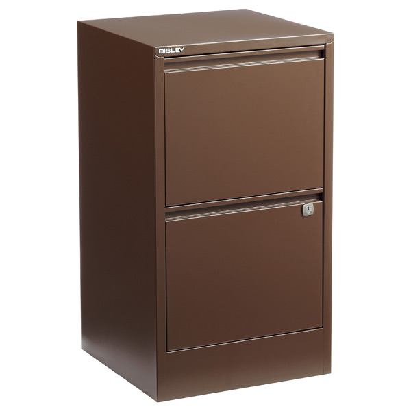 Bisley® 2-Drawer File Cabinet Sepia
