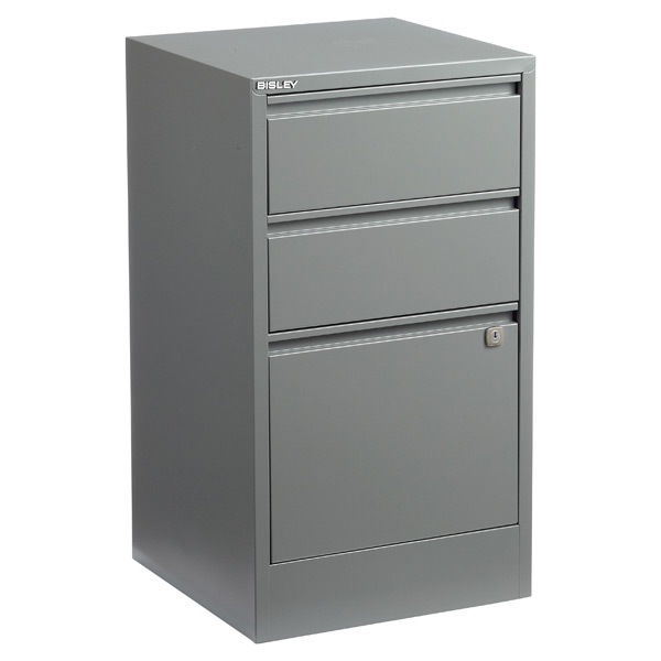 Bisley 3-Drawer Locking Filing Cabinet Graphite