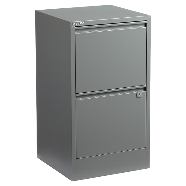 Bisley® 2-Drawer File Cabinet Graphite