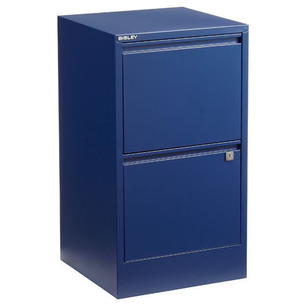 Bisley 2-Drawer Locking Filing Cabinet Oxford Blue