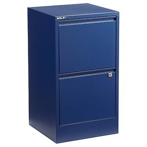 Bisley 2-Drawer File Cabinet Oxford Blue