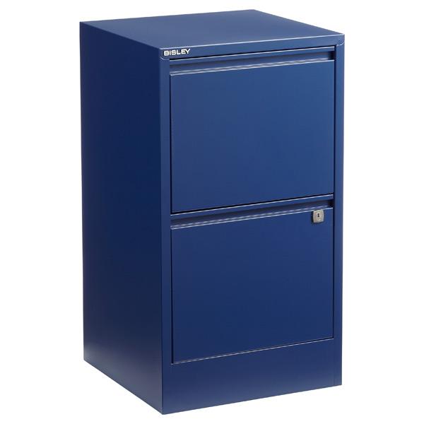 ... Bisley 2 Drawer Locking Filing Cabinet Oxford Blue