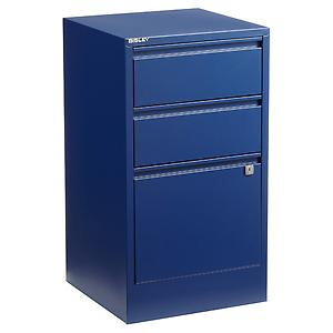 Bisley 3-Drawer File Cabinet Oxford Blue