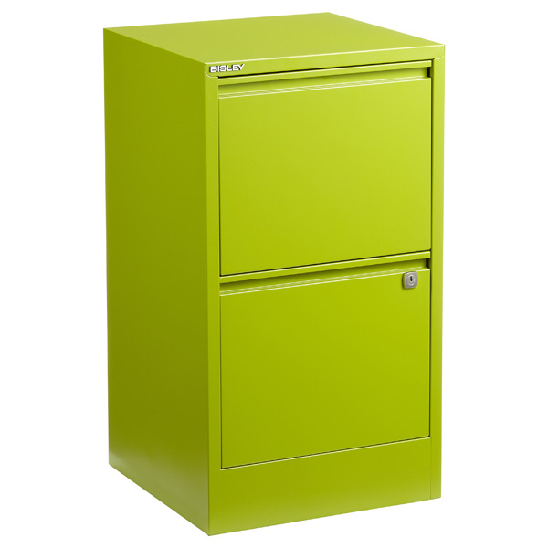 Bisley Green 2 3Drawer Locking Filing Cabinets The Container Store
