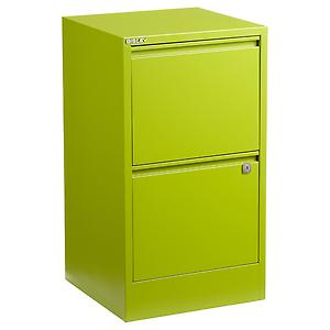Bisley 2-Drawer Locking Filing Cabinet Green