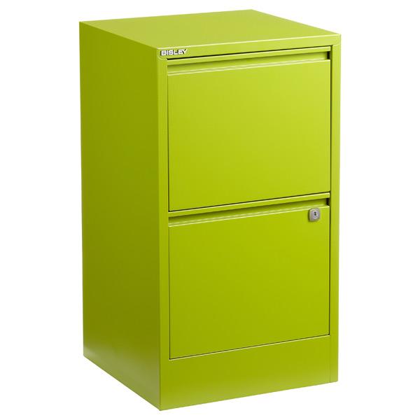 Green File Cabinets · Bisley 2-Drawer Locking Filing Cabinet Green ...