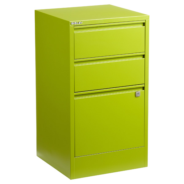Bisley® 3-Drawer File Cabinet Green