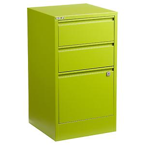 Bisley 3-Drawer Locking Filing Cabinet Green